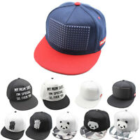 Mens Women Snapback Baseball Cap Hip Hop Kpop Bboy Sun Visor Hat Cool Adjustable
