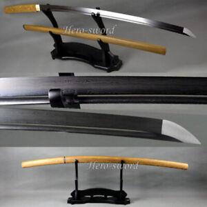 Rose Wood Shirasaya Katana Battle Ready Folded Steel Samurai Sword Sharp Blade