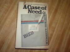 A Case of Need by Jeffery Hudson (aka Michael Crichton) Book Club Edition 1968