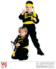 Childrens Ninja Fancy Dress Costume Karate Kid Outfit Warrior 3-4 Yrs Clr