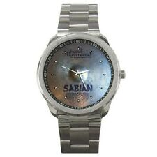 Sabian HH Hand Hammered Bright Hat Cymbal Style Sport Metal Watch