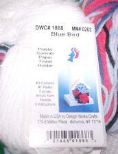 Design Works Colorful BLUEBIRD  Paper Towel Holder Plastic Canvas Kit