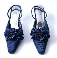 Womans Dress Shoes Size 7.5, navy blue - 2 1/2 in. heels