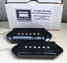 Lindy Fralin P90 Dog Ear Stock Pickup set - black
