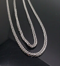 "New 10K White Gold Men's Franco Chain 38"" Long 3mm With Lobster Lock"