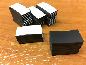 50 Self Adhesive Magnetic Tape Strips 25 x 12.5mm Cut Magnet Strip Art Craft NEW