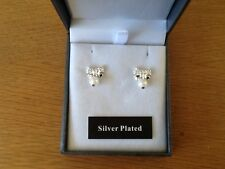 ladies earrings,silver plated with freshwater pearls,new,+ gift bag