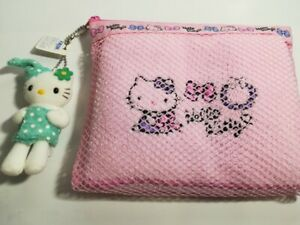 Hello Kitty Bath amenity set Face towel wash towel pouch New From Japan