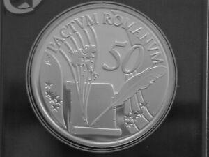 Belgium 10€ Silver Proof 2007qp Treaty of Rome 50th Anniversary KM#260
