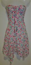 DVF DIANE VON FURSTENBERG Floral Strapless Cotton Midi Dress Size 8 Small S