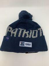 New England Patriots New Era NFL Knit Hat On Field Sideline Beanie Blue New NWT