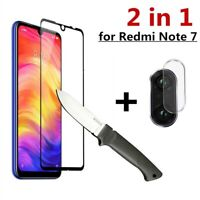2 in 1 For Xiaomi Redmi Note 7 Camera Lens Glass + 9D Full Screen Protector