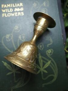 Vintage Brass Bell & Candlestick - Space Clearing- Witchcraft, Wicca, Pagan