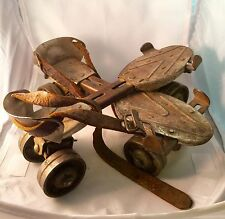 Vintage Wards Speedline Metal Roller Skates Dreadnaught