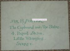 Harry Potter Privet Drive Envelope Original Genuine Prop SS PS Certified