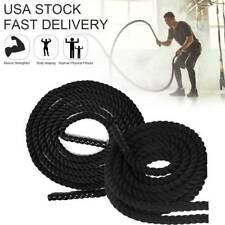 "1.5"" 30FT Poly Dacron Battle Rope Exercise Workout Strength Training Undulation"
