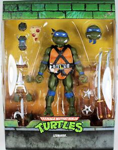 """Teenage Mutant Ninja Turtles ~ 7"""" ULTIMATE LEONARDO ACTION FIGURE ~ Super 7 TMNT"""