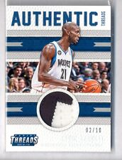 KEVIN GARNETT 2015-16 PANINI THREADS AUTHENTIC THREADS 2 COLOR PATCH #2/10