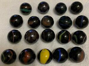 Vintage Marbles corkscrew patch lot of 19 subtle color spirals patches on black
