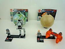 LEGO STAR WARS 9678 & 9679 AT-ST + AT-ST DRIVER & TWIN POD CLOUD CAR + LOBOT