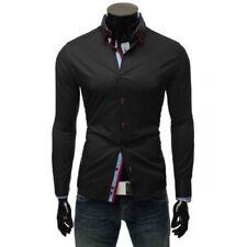 Camicie casual e maglie da uomo nero aderente taglia S