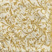 Gold Blumen Damast Weihnachten Geprägt 33x33cm 33X33CM 15X 3 Ply Papier Napkins