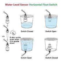 New Liquid Water Level Sensor Horizontal Float Switch Use In Tank Pool Aquariums