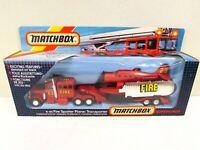 Vintage Matchbox K-112 Super Kings Fire Spotter Plane Transporter Red Fire Truck
