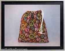 Gymnastics Leotard Grip Bags / Colorful Peace Signs Gymnasts Birthday Goody Bag