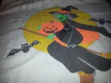 trick or treat pillow case needle work that can be done or use treat bag witch