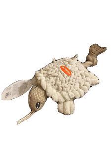Petlou Inc. 6'' Natural Turtle DogToy Squeaks