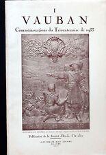 VAUBAN I -  Commémorations du tricentenaire (fascicule I) - SEA Avallon