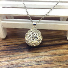 Perfume Fragrance Essential Oil Aromatherapy Diffuser cage Locket Necklace WT65