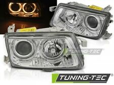 Headlights For OPEL ASTRA F 94-97 ANGEL EYES CHROME