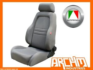 AUTOTECNICA - ADVENTURER 4X4 OUTBACK SEAT CLOTH GREY - ADJUSTABLE RECLINABLE