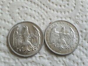 3 Mark 1922 A - Weimar SATZ - Umlaufmünzen+Gedenkmünzen in SS-VZ