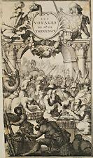 FRONTISPICE Voyages Mr de Thevenot Europe Asie Afrique GRAVURE 1727