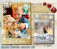10 Personalised Christmas Thank You Cards Pack + Envelopes Photos Xmas Gift Kids
