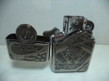 ZIPPO LIGHTER FEUERZEUG HARLEY DAVIDSON MOTOR FLAG EMBLEM ENGINE VERY RARE NEW.