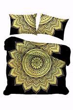 Flower Wonderful Design Yellow Color Bedding Queen Size Duvet Cover Indian Art