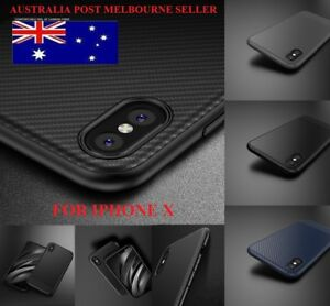 FOR IPhone X/XS Phone Case Genuine Shockproof Slim Carbon Fiber Soft Phone Cover