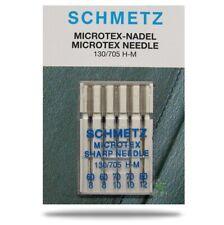 SCHMETZ 5 Microtex Nähmaschinennadeln Stärke 60