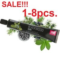 SPLAT BLACKWOOD. Unique Whitening Toothpaste with Charcoal & Juniper 75ml 1-8pcs