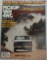Pickup Van & 4WD Magazine VW Rabbit & 1980 Ford 4x4 January 1980 050215R