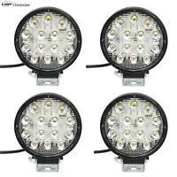 4pcs 42W Spot Work LED Light Bar Round Lamp Driving Offroad SUV Car Truck Slim
