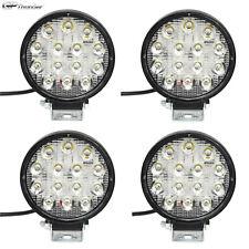 4pcs 42W Spot Work LED Light Bar Round Lamp Driving Offroad SUV Car Truck Slim
