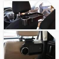 Schwarz Car Auto Rücksitz Klapptablett Aufbewahrungbox Becherhalter Essen Tisch