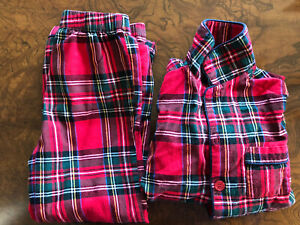Traditional Festive Tartan Luxury Children's Pajamas Size 7 - Lightly used