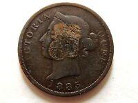"""1885 Cyprus One (1) Piastre """"Victoria"""" Coin """"RARE"""""""