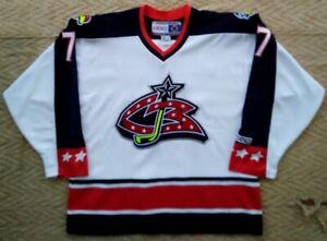 Vintage Scott Lachance #7 CCM  jersey Columbus Blue Jackets Hockey NHL. Size. L